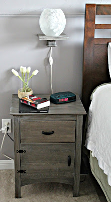 floating bedside shelf - cerusing