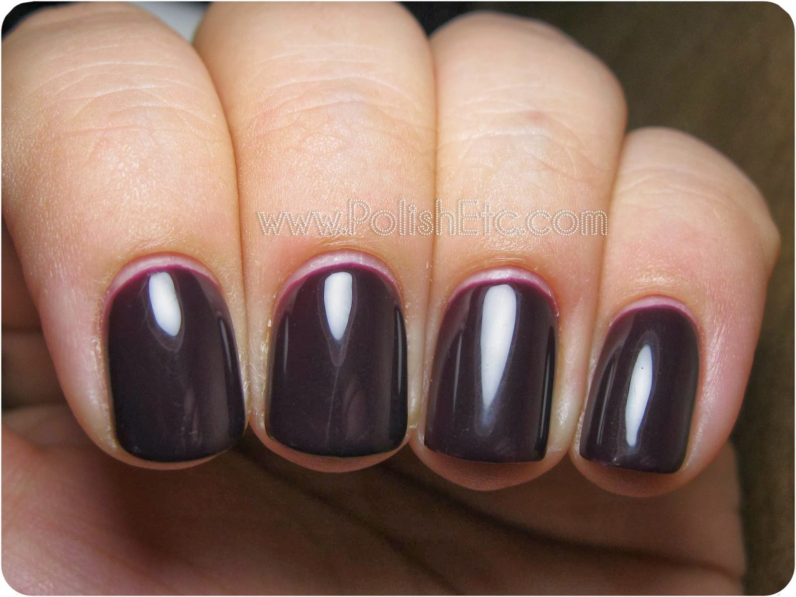 Gelish Love Me Like A Vamp Swatches and Review! - Polish Etc.