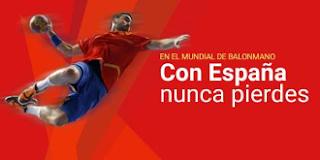 luckia mundial balonmano España vs Angola 16 enero