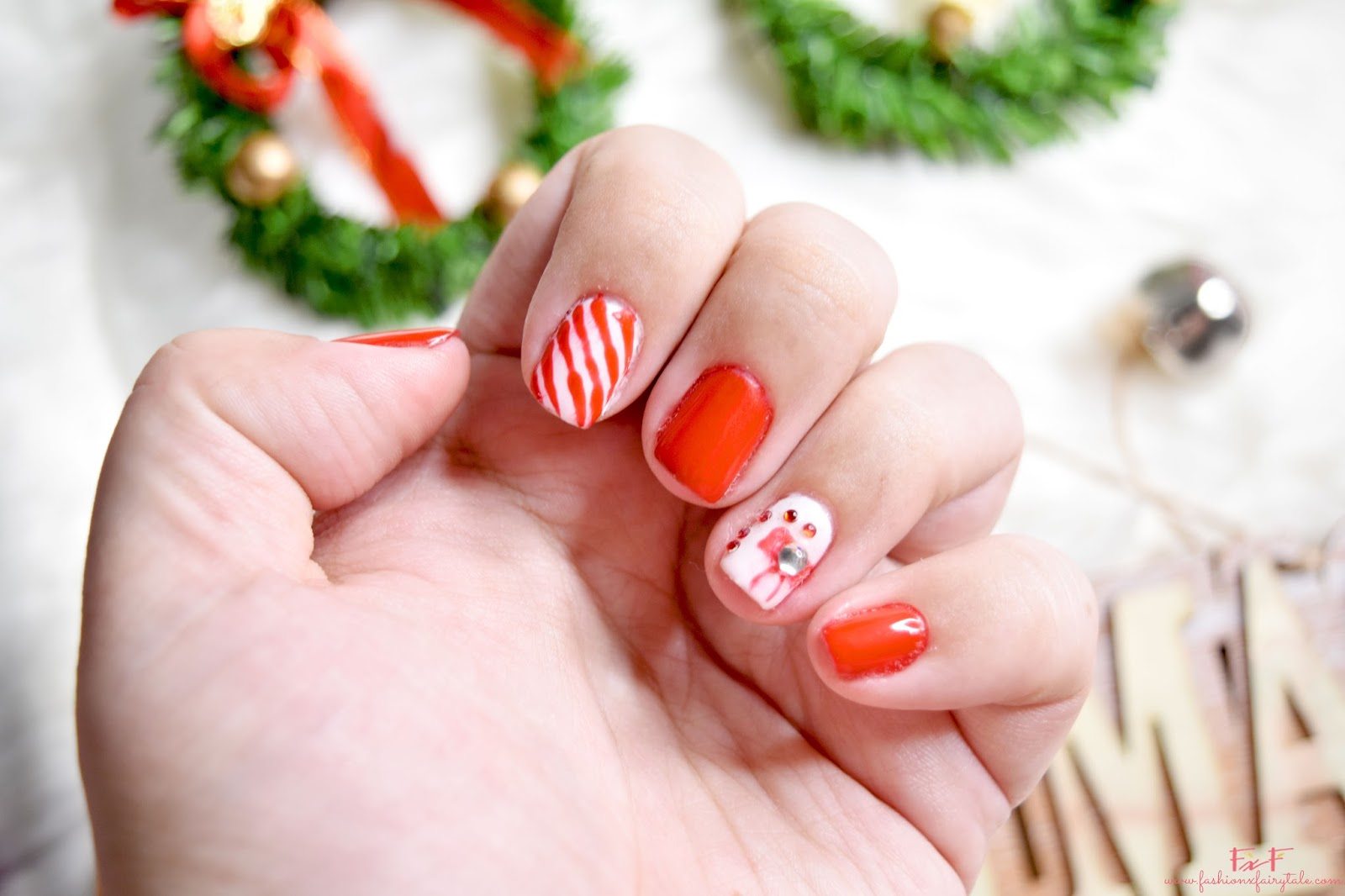 My Christmas Nail Art Manicure 2016