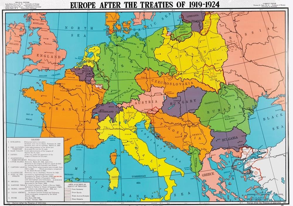 Cartina Europa 1938.Accade Un Anno 1924 La Mappa Politica Dell Europa