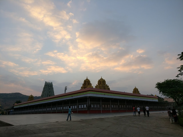 people going in the temple early in the morning to worship god