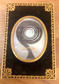 Lock of hair of Lady Jersey in souvenir booklet  © Jayne Parkes