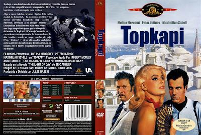 Carátula, coverm dvd: Topkapi | 1964