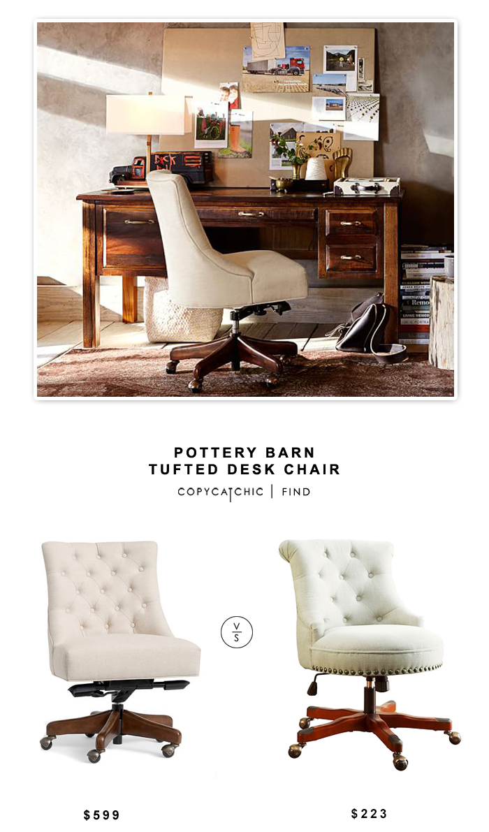 Copy cat chic pottery barn tufted desk chair - Pottery barn office desk ...