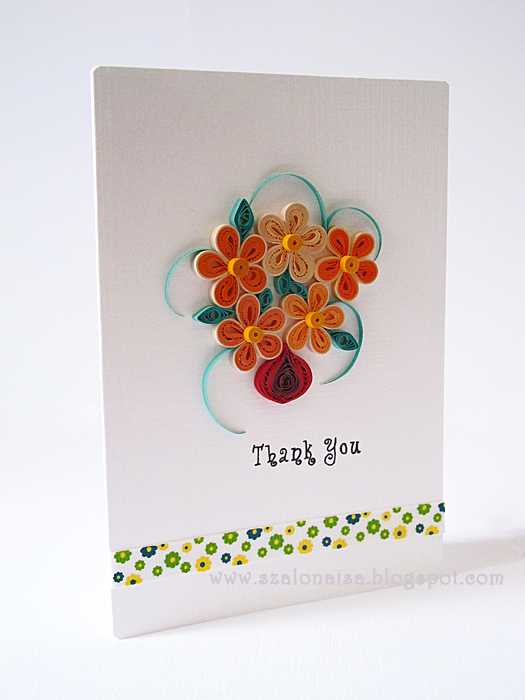 quilled handmade cards  szalonaisa's wonderland quilled