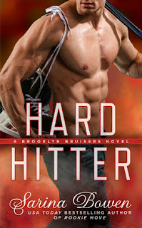 romance novel cover, contemporary romance, Hard Hitter by Sarina Bowen