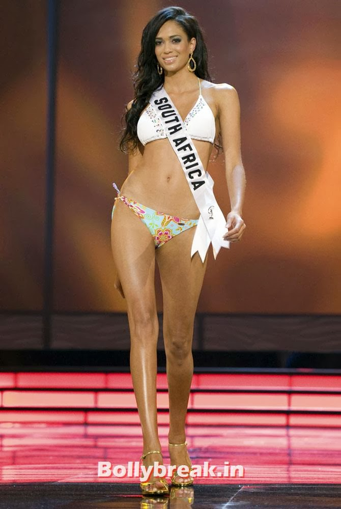 Tatum Keshwar, Miss South Africa 2009, competes in the swimsuit segment of the Miss Universe 2009 Presentation Show at Atlantis, Paradise Island August 15, 2009. Picture taken August 15, 2009., Indian Women who have won Beauty Peagents across the World