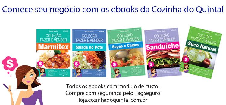 Ebooks de negócios caseiros de alimentação da Cozinha do Quintal