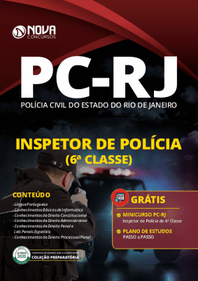 Apostila Concurso PC RJ 2020 PDF Inspetor de Polícia Download PDF Grátis Curso Online