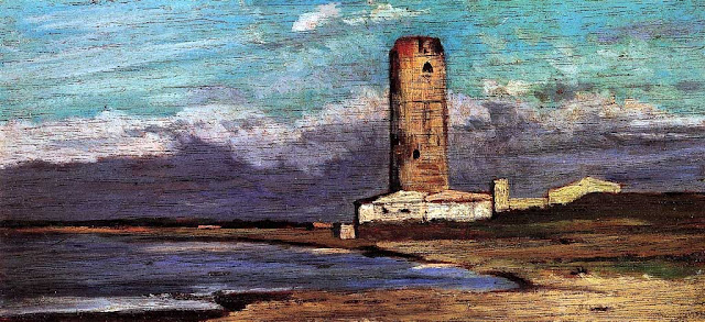 La torre rossa, The Red Tower by Giovanni Fattori, 1875