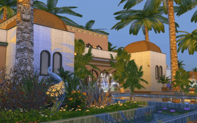 jardin luxe sims 4
