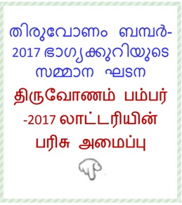 Prize Structure of Thiruvonam Bumper-2017 lottery