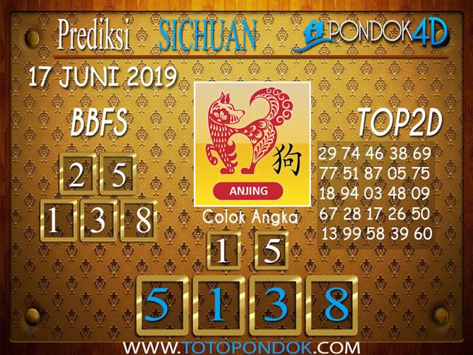 Prediksi Togel SICHUAN PONDOK4D 17 JUNI 2019