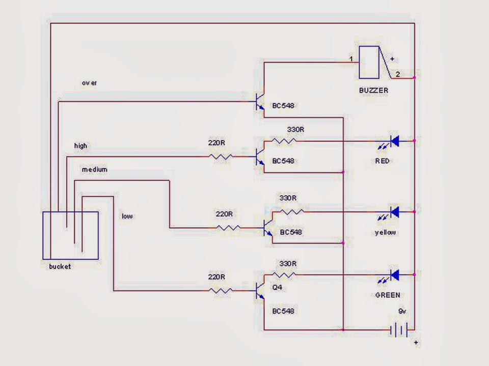 Mini Project  Water Level Indicator Using Bc548 Transistor