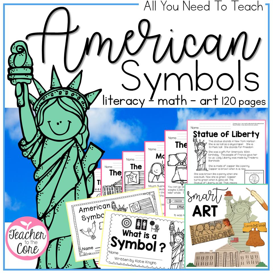 American Symbols   Teacher to the Core [ 960 x 960 Pixel ]