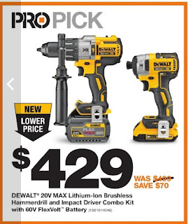 Home Depot Pro Savings - Pro Pick Dewalt 20V Max - Nov 28 - Dec 18