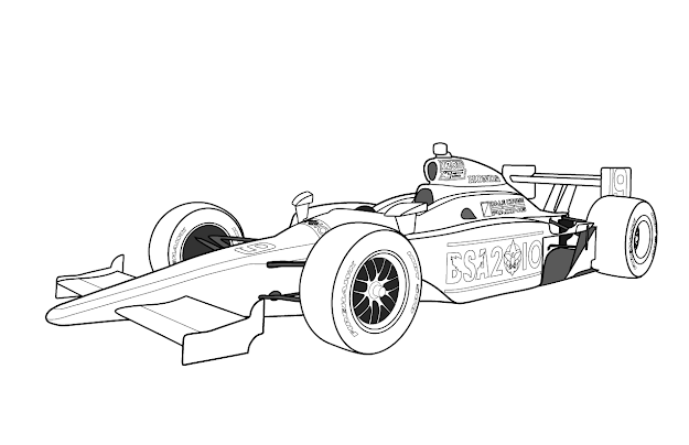 Racing Car Coloring Pages For Kids Printable