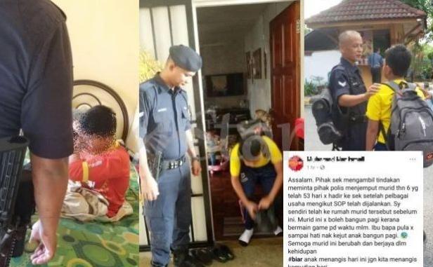 Viral Murid Darjah 6 Ponteng Sekolah 53 Hari Sehingga Jadi Kes Polis