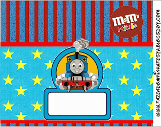 Thomas the Train Free Printable M&M Labels.