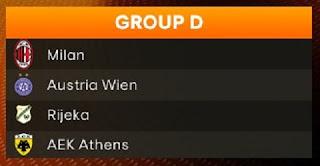 Europa League, Milan, Austria Vienna, Rijeka, Aek Atene,