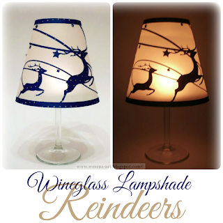 WineglassLampshadeReindeer by wesens-art.blogspot.com