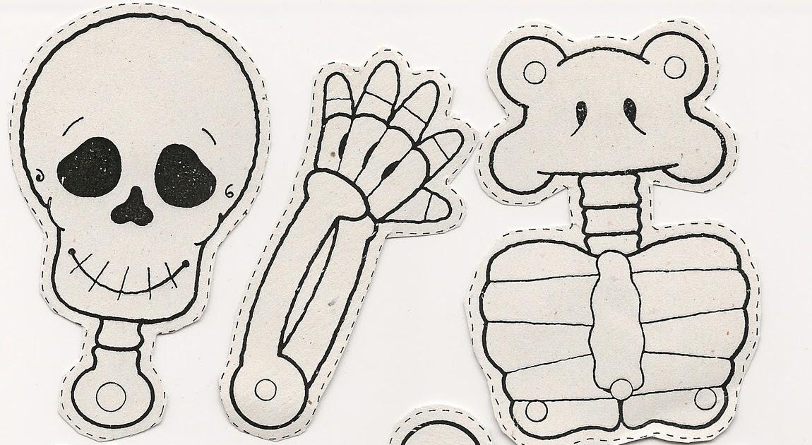 Dibujos De Marionetas Para Imprimir Y Colorear: Esqueletos De Halloween Para Armar Imagui Marionetas