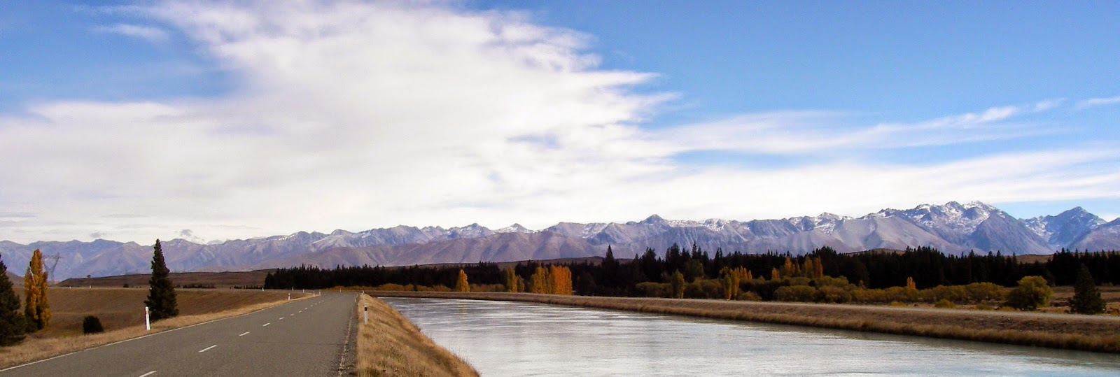 View of the Southern Alps, New Zealand