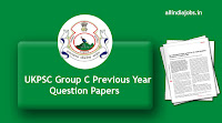 UKPSC Group C Previous Papers