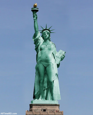 Statue of Liberty in Bikini pictures