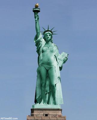 Statue of Liberty in Bikini pictures