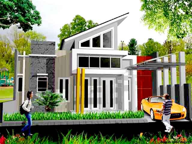 Desain Rumah Minimalis Type 80 Modern