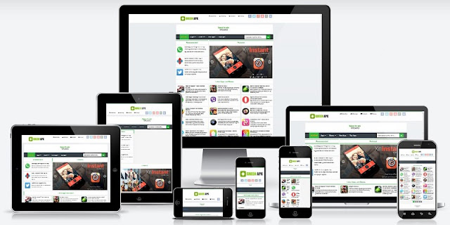 Free Green APK Pro Responsive Blogger Template