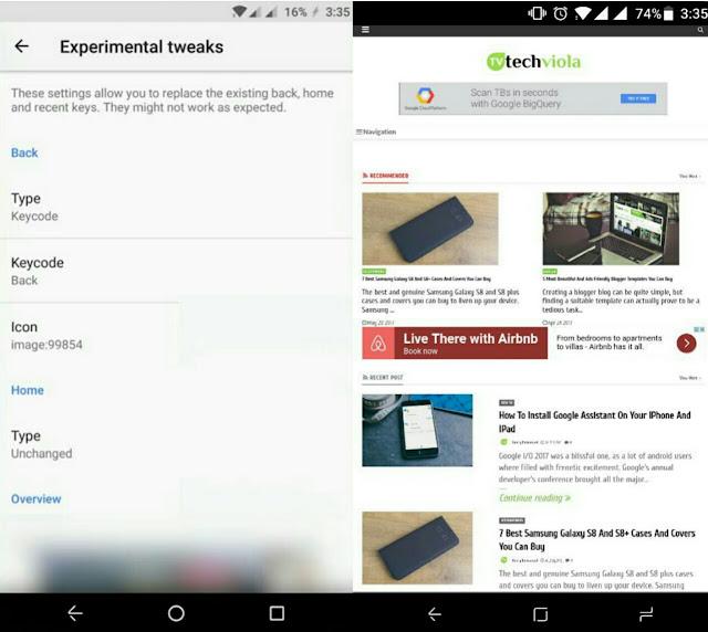 get Galaxy S8 navbar with custom navigation bar