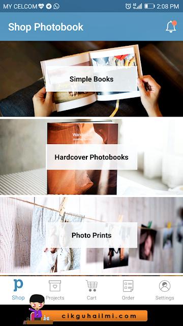 Pelbagai pilihan yang ada di Photobook Malaysia