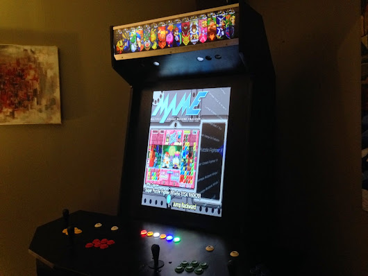 Some almost final pics of my HyperSpin/MAME arcade cabinet