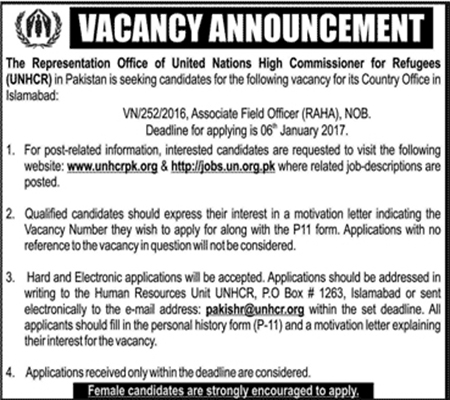 Jobs in United Nations High Commissioner for Refugees