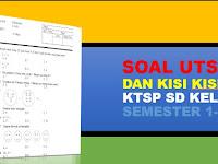 3 Paket Soal dan Kisi-kisi UTS KTSP Kelas 1 SD 2 Semester
