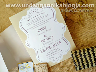 undangan pernikahan single hardcover elegan