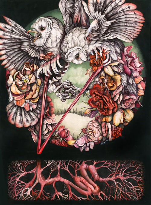 My Owl Barn Flora And Fauna Combined In Astounding Artwork By