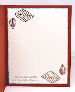 "Linda Vich Creates: Ornate Orchid. Copper embossed climbing orchid sits atop a Cajun Craze stitched square. Ruffled copper trim and Island Indigo matte embossed with the Garden Trellis embossing folder as well as some copper foil and this card screams, ""ornate!"""