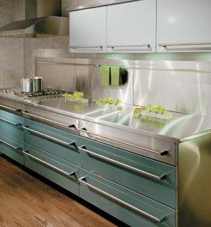 Luxury Modern Metal Kitchen Cabinets, Metal Kitchen ...