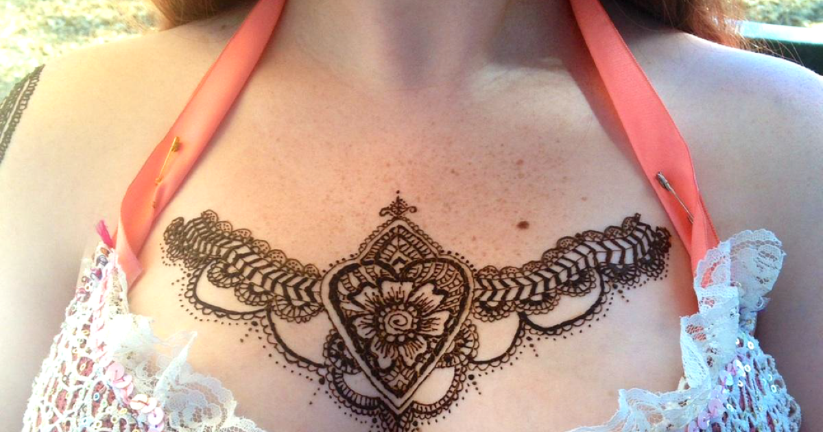 Henna Tattoo Designs On Chest Love Mehndi Designs