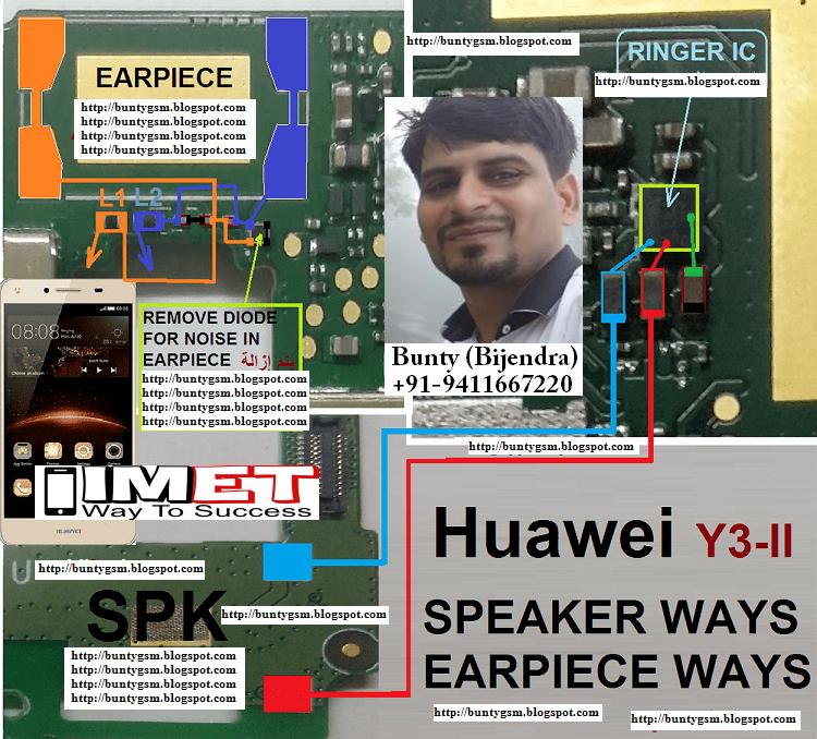 Huawei Y3II Ringer Handfree Speaker Problem Solution Jumper Ways
