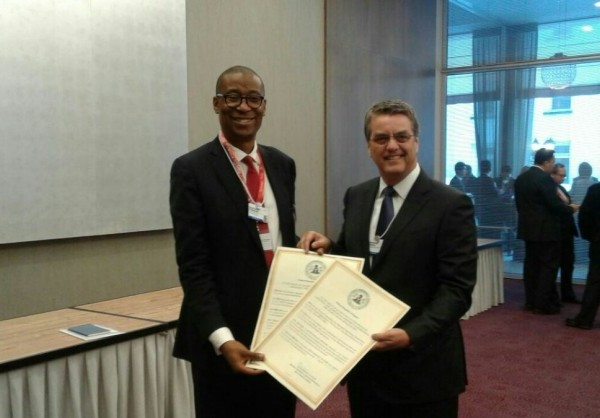 Nigeria's instrument of acceptance was submitted to the WTO today by the Minister for Industry, Trade and Investment Dr. Okechukwu Enelamah (www.FMITI.gov.ng).