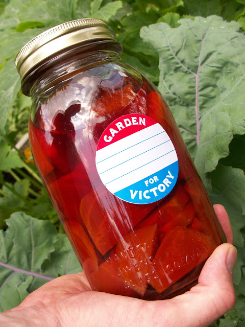 Garden for Victory Canning Jar Labels