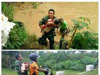 Aksi Pelda Idris Tolong Korban Banjir Ini Jadi Viral di Sosmed