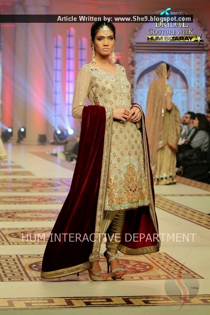 Asifa Nabeel Designer Collection for Brides and Groom at TBCW-2014
