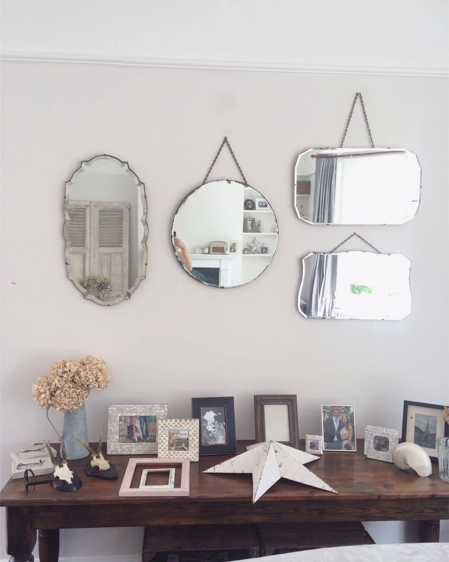 DIY - Creating a Vintage Mirror Wall - Roses and Rolltops