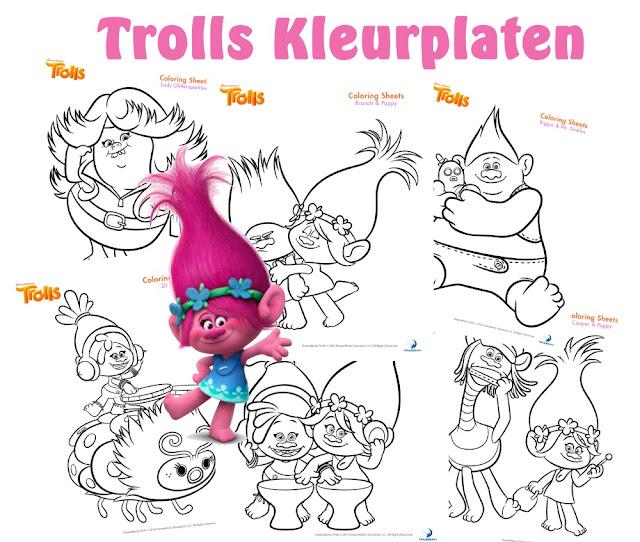trolls kleurplaten, kleurplaten trolls, kleurplaten van de trolls, trolls printen